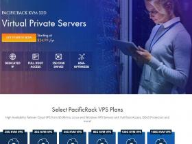 pacificrack:新型VPS/年$12/KVM/1G内存/1核/20gSSD/1T流量